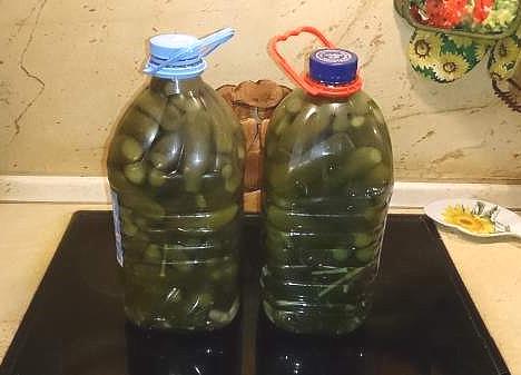 Соленые огурцы в пластиковой бутылке - как из бочки!