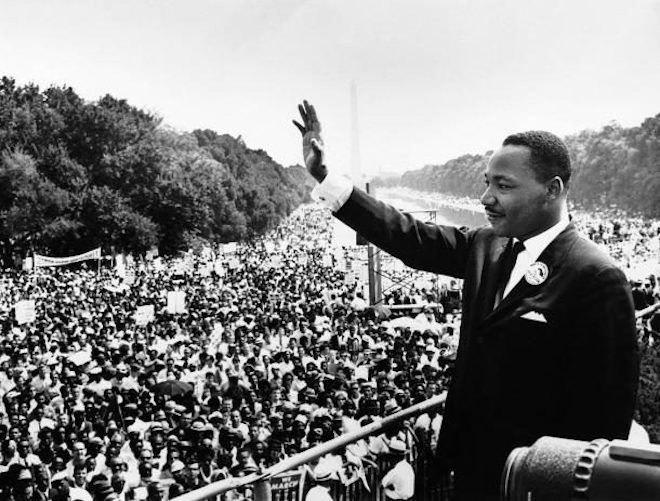 Мартин Лютер Кинг перед аудиторией