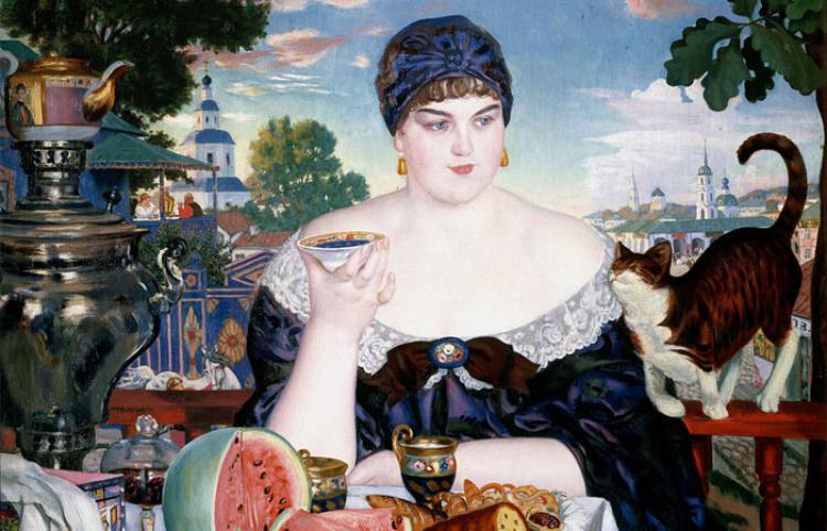 Картина «Купчиха за чаем» художника Бориса Кустодиева: История любви и мести, основанная на реальных событиях