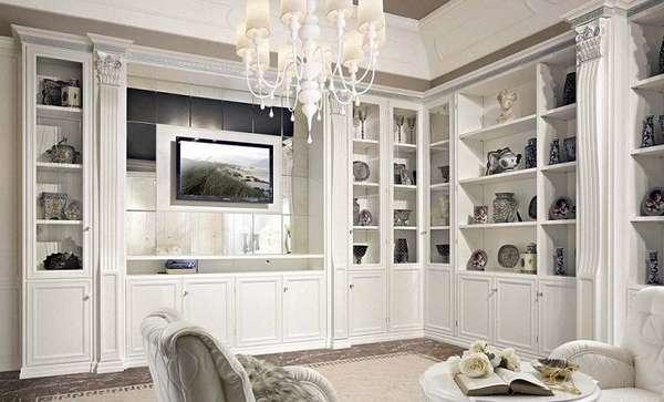 легкая стенка в гостиную в современном стиле, фото 23