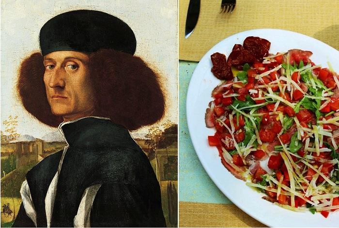 Итальянский живописец Витторе Карпаччо и блюдо из сырого говяжьего филе, названное в честь него.