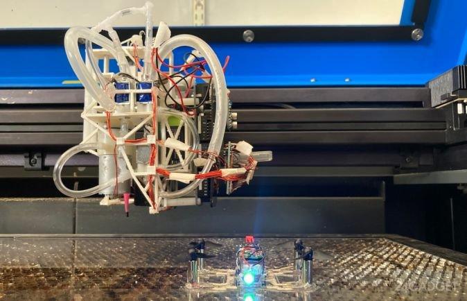В США создана печатная установка, производящая простейших роботов