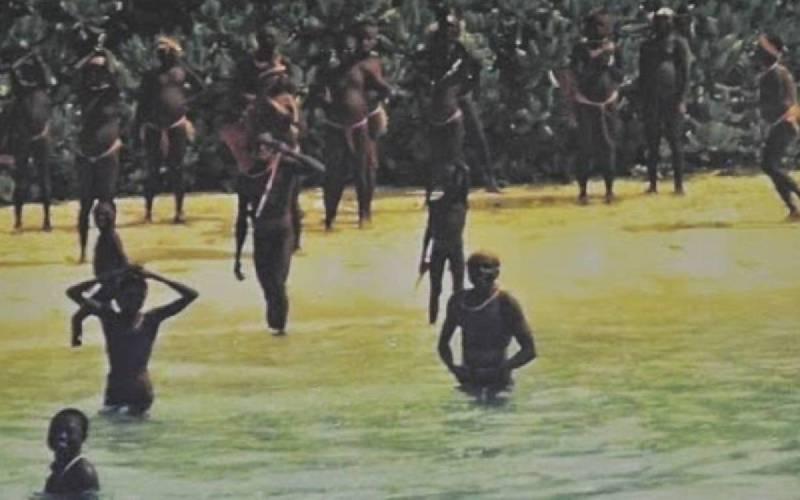 Остров отверг современную цивилизацию и живет по законам древнего мира остров, многие, племени, Сентинел, островитяне, Несмотря, издалека, дрейфующие, корабли, головами, пролетающие, самолеты, камнями, швыряют, фотографии, сделаны, расстоянииАгрессивное, Поэтому, обратно, возвращались