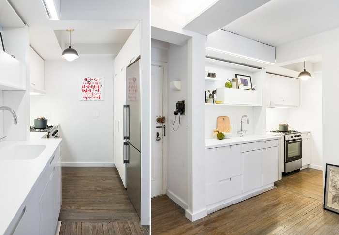 Квартира-студия на Манхэттене. Кухня.