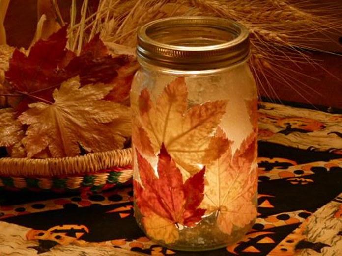 Светильник изосенних листьев