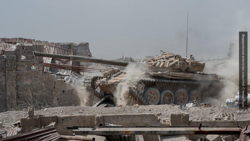 Под прикрытием песчаной бури сирийские войска отбили у ИГИЛ три района в Дейр-эз-Зоре