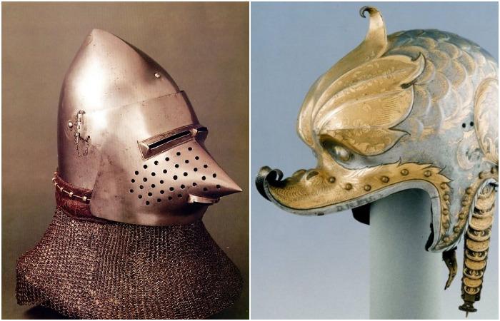 Как выглядели самые причудливые и модные шлемы средневековых рыцарей