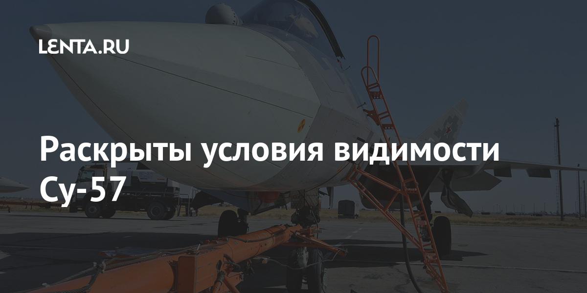 Раскрыты условия видимости Су-57 Наука и техника