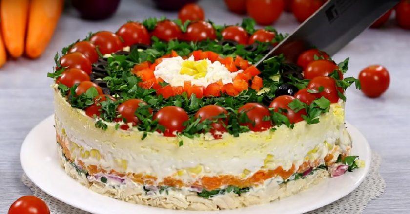 Бесподобный многослойный салат