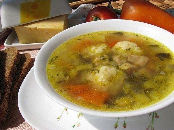 Сырные шарики. Быстрый болгарский суп