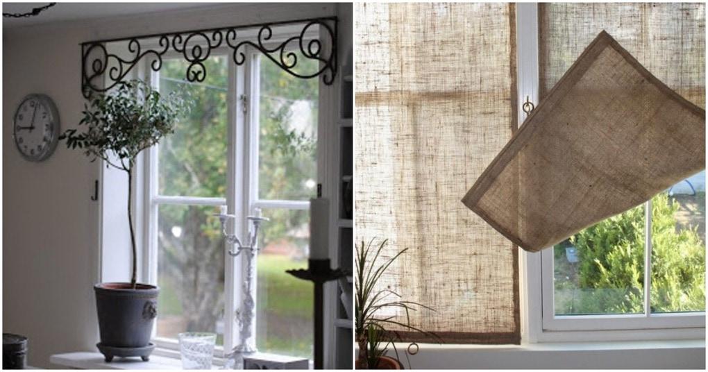 Вместо обычных штор: удивительные идеи декора окон