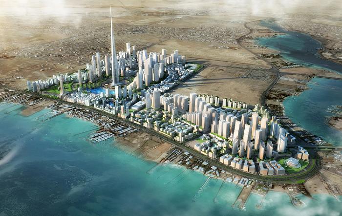 Макет города будущего Kingdom City или Jeddah Economic City (Саудовская Аравия). | Фото: businesswire.com.