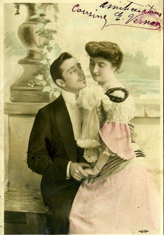 Февраля класс, открытка начало хх века