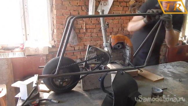 Самодельный мопед из бензопилы Урал 2Т самоделкин