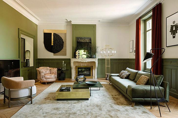 Необычная Франция: квартира в зеленых тонах в Лионе