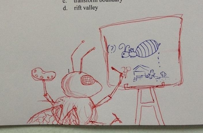 Тайский учитель улучшает рисунки учеников. Получается здорово!