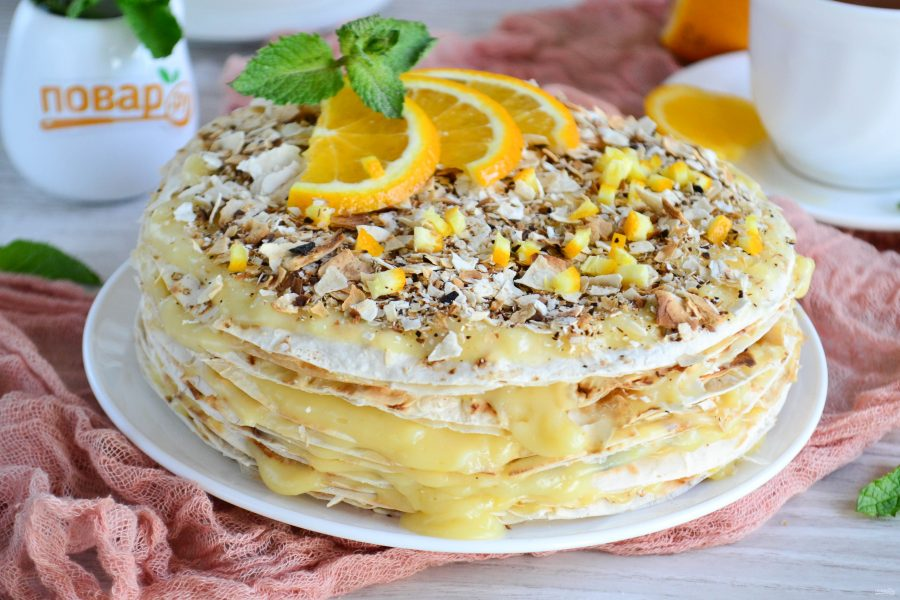 Быстрый торт из лаваша