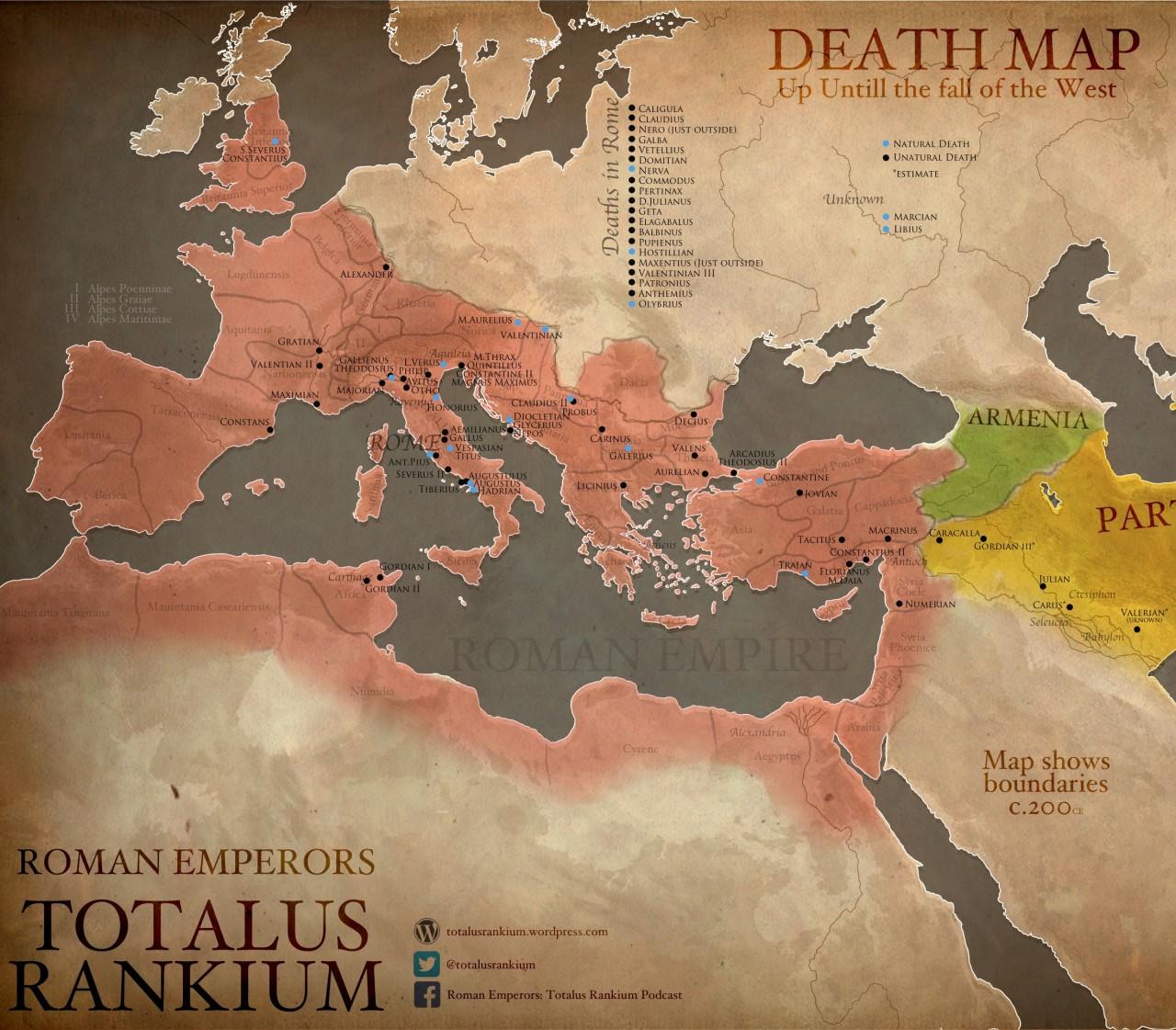 Где умирали императоры Римской Империи