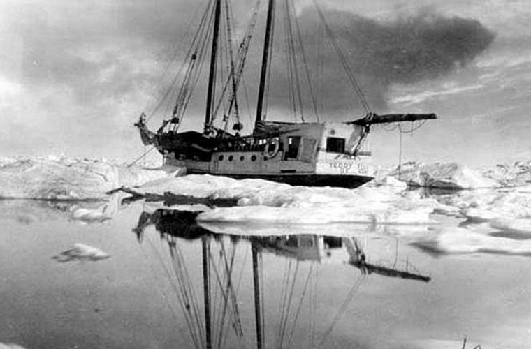 Шхуна «Teddy Bear», которую Стефанссон нанял в качестве судна снабжения, оказалась заблокированной льдами у острова Врангеля Ада Блэкджек, арктика, интересно, история, познавательно, факты