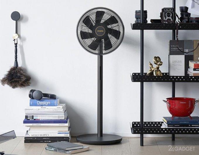 Смарт-вентилятор от Xiaomi с контролем температуры и влажности