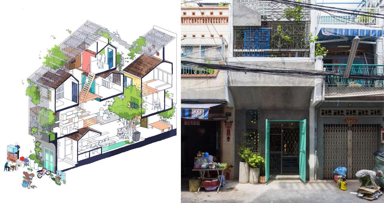 Сайгон-хаус или сотовый дом во Вьетнаме
