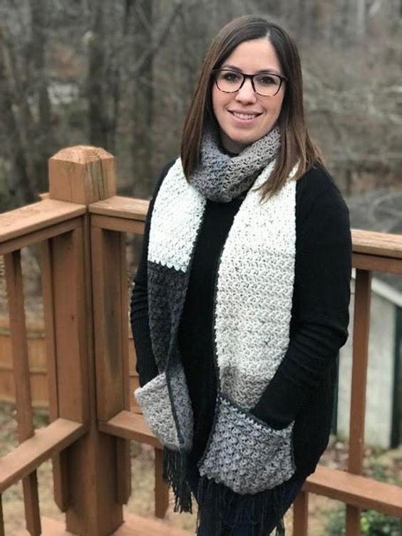 Шарф с карманами: стильное дополнение к хорошо продуманному гардеробу вязание,мода,одежда