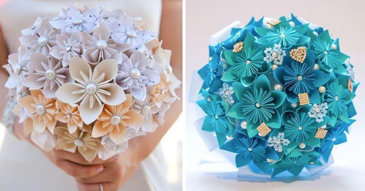 Букеты из бумажных цветов. Очаровательный декор своими руками