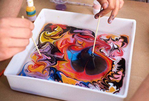 Марблинг — искусство, которое удивляет рисование по ткани