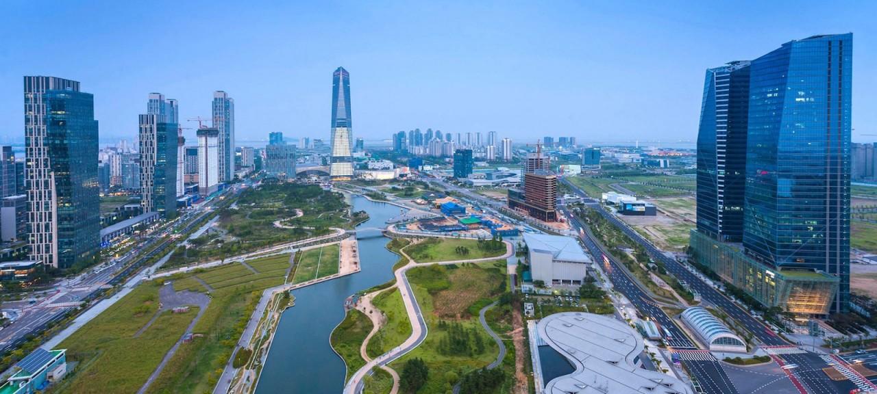 Инновации будущее, корея, сонгдо, технологии, умный город