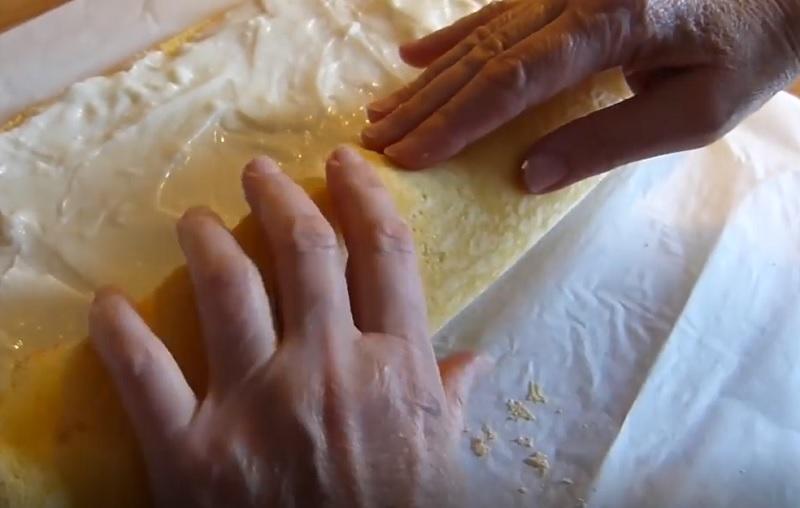 Рецепт бананового рулета банан,выпечка,десерты,рулет