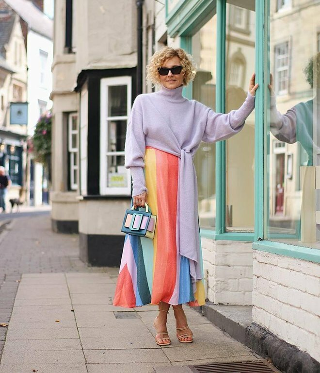 Яркие образы для современных женщин 50+. Стильно носим юбки, брюки и платья гардероб,мода и красота,модные образы,модные тенденции,одежда и аксессуары