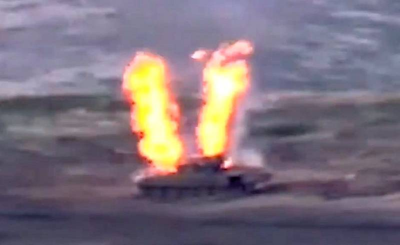 Ереван опубликовал кадры уничтожения азербайджанских Т-72 Новости