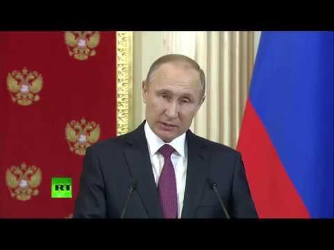 Совместная пресс-конференция Путина и Додона