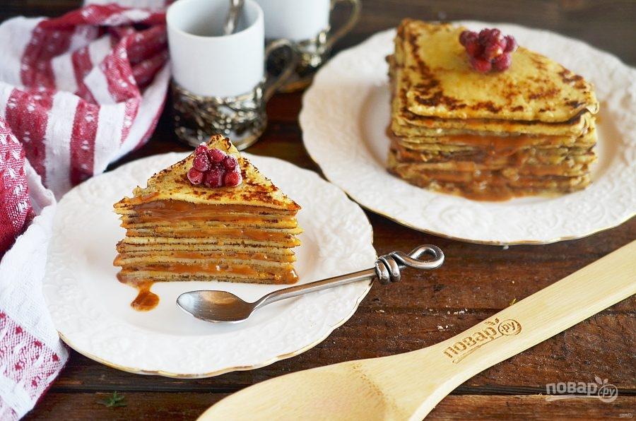 Блинный торт с карамельным вкусом