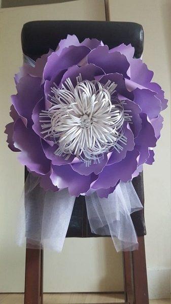 Гигантские цветы из бумаги для декора сделай сам