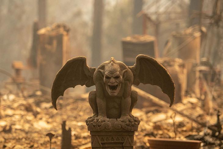 Разрушительный пожар в Калифорнии