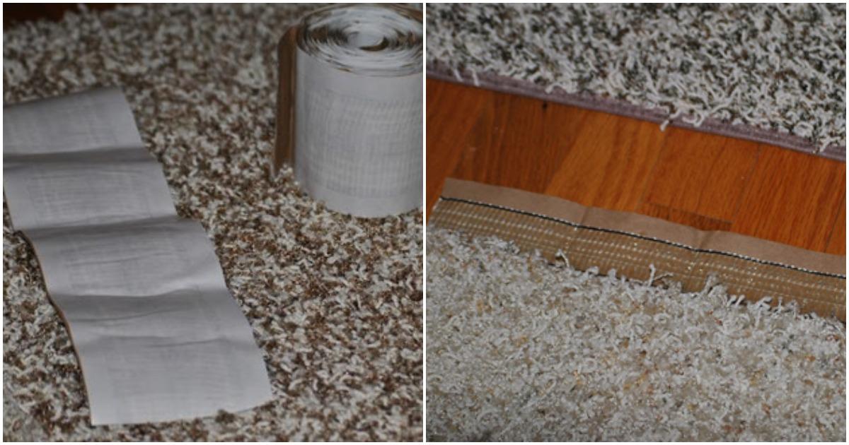 Рукодельница легко и просто делает большой мозаичный ковёр для дома