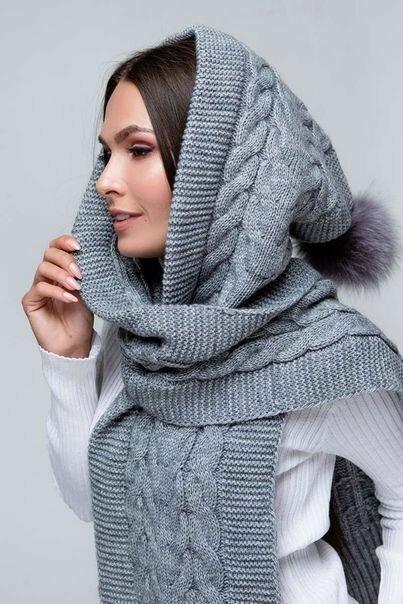 18 необыкновенных вязаных шарфов-капюшонов