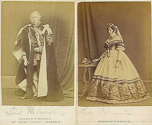Лорд Пальмерстон с женой.