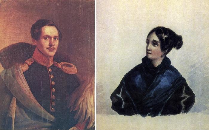 / В. А. Лопухина-Бахметева. 1835 год. Акварель М. Ю. Лермонтова.