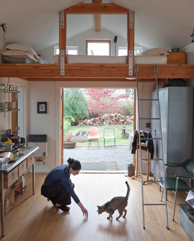 Как из гаража сделать кухню фото