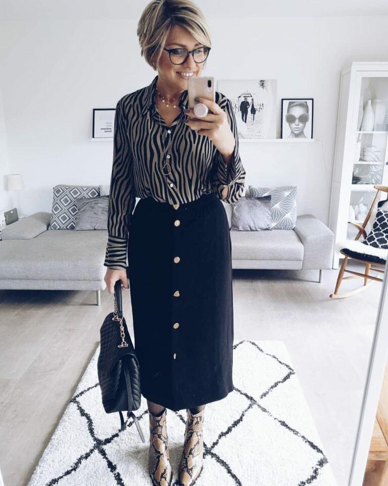 14 отличных  моделей юбок с пуговицами спереди для женщин