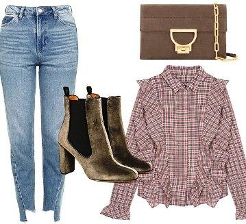 Остро актуально — 5 идей, как носить джинсы с высокой талией этой осенью
