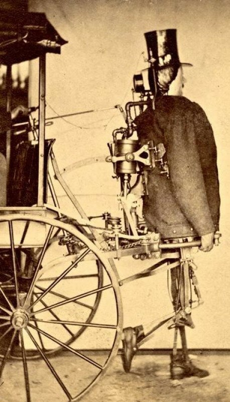 """""""Steam Man"""", первый американский робот, 24 марта 1868 г. история, ретро, фото"""