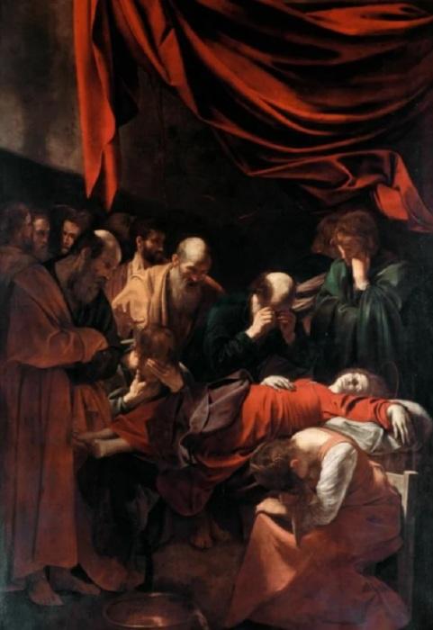 Микеланджело Меризи да Караваджо. Успение Богоматери (Смерть Девы Марии). Ок. 1606. Лувр, Париж