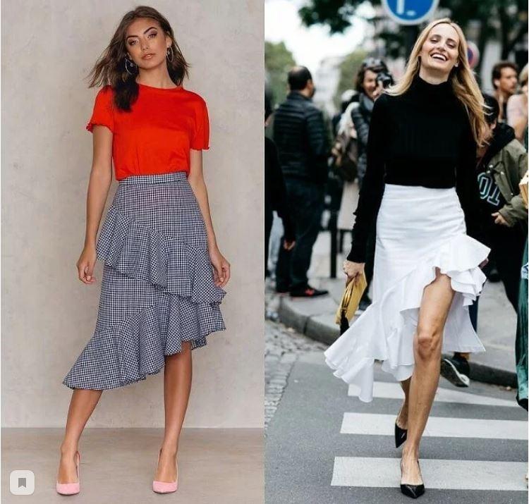 Тренд сезона — асимметричная юбка: фото + подборка выкроек