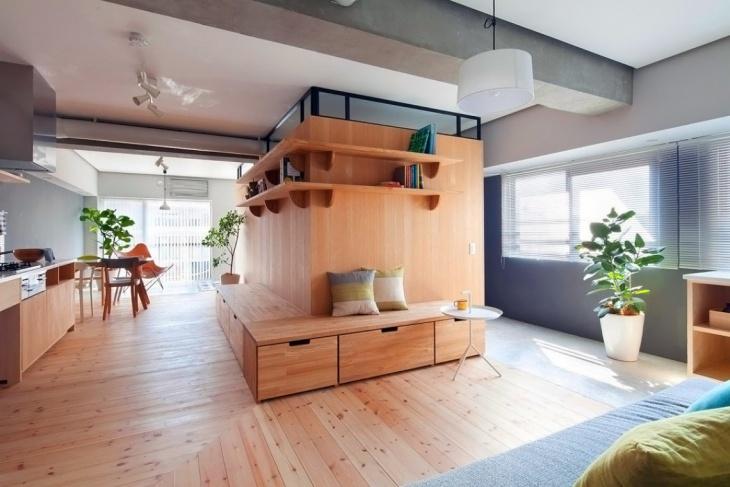 квартира из одной комнаты с открытой планировкой квартира
