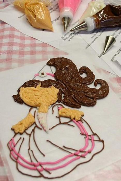 Праздничный лайфхак: как «отпечатать» любое изображение на торте кулинария.