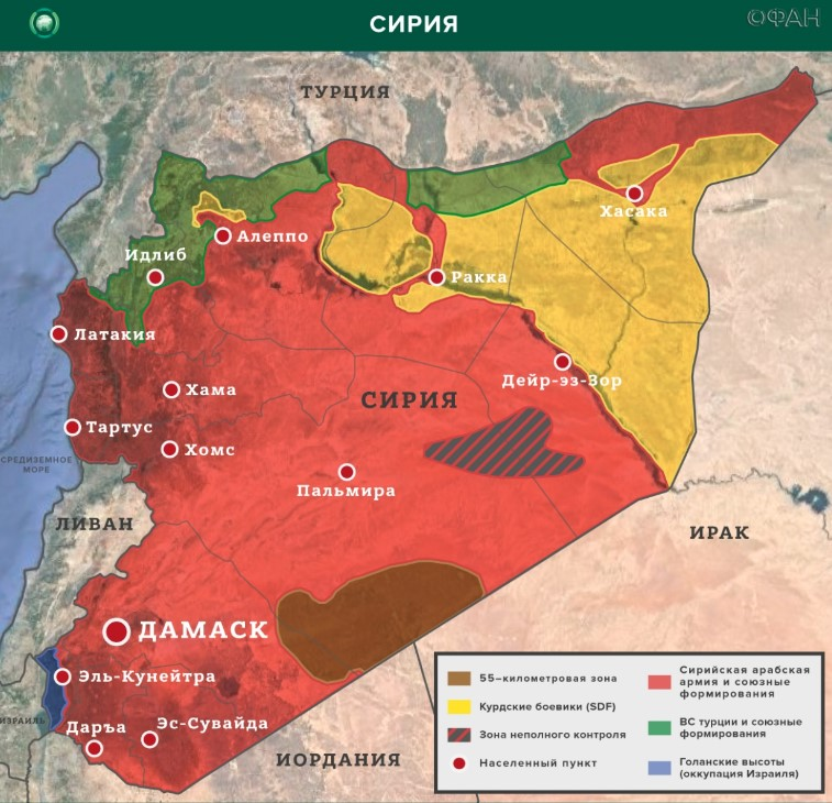 Сирийской армии удалось освободить от боевиков населенные пункты в Алеппо и Идлибе