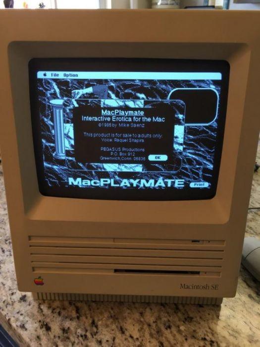 Как выглядит порно на Макинтоше конца 80-х игра, компьютер, макинтош, порно
